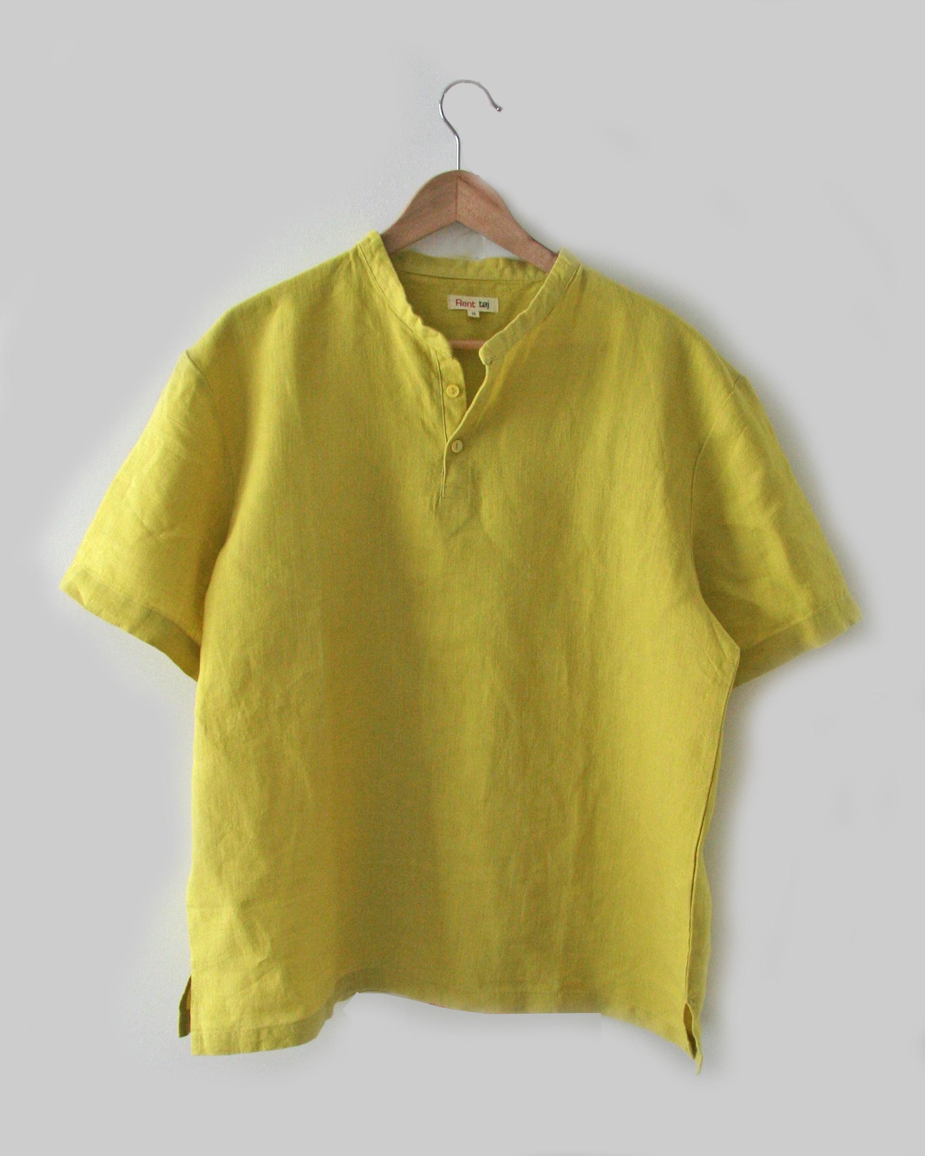 skjorte, gul
