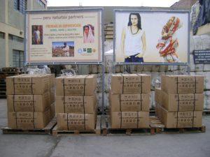 kasser klar til afsendelse