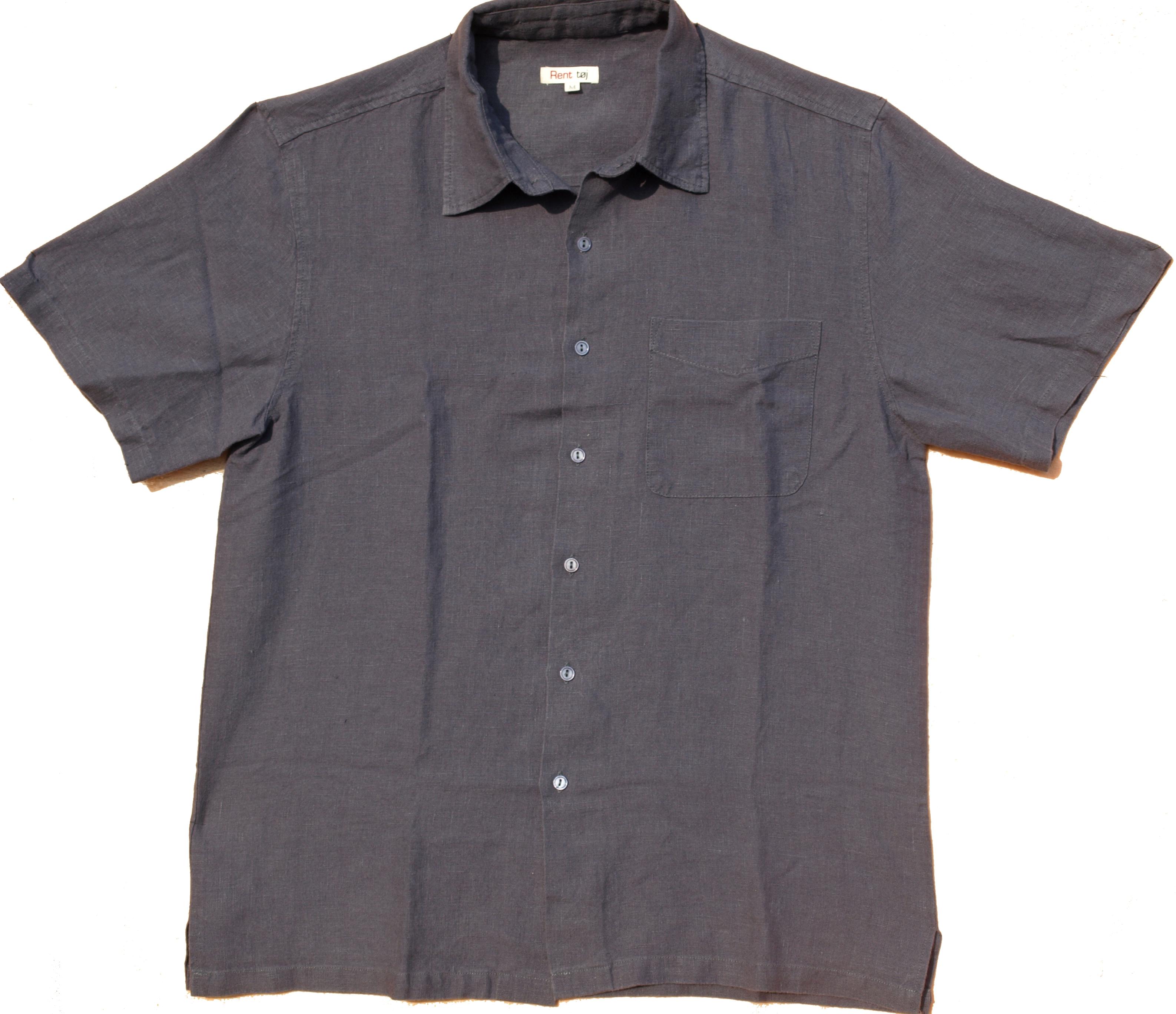Fantastisk Skjorte, kortærmet, grå, hamp | AA23